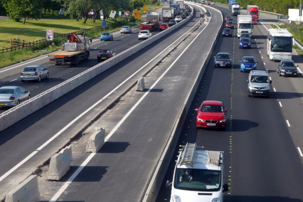 M1 'smart motorway' work completed in Mansfield and Worksop