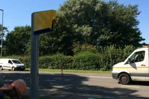 Great Yarmouth roadworks leave speed camera useless
