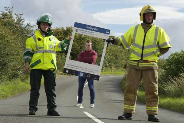 Rugby star Stuart Hogg backs country roads safety campaign