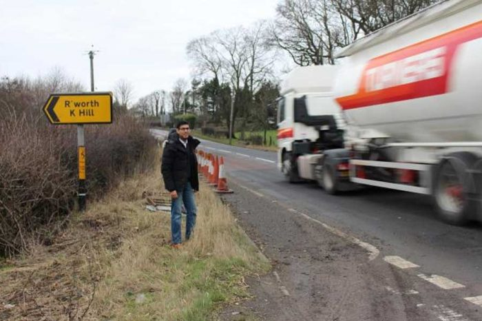 Safety improvements to dangerous A66 junction