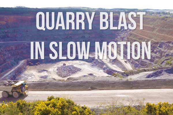 VIDEO | Amazing Quarry Blast in Slow Motion and Drone footage