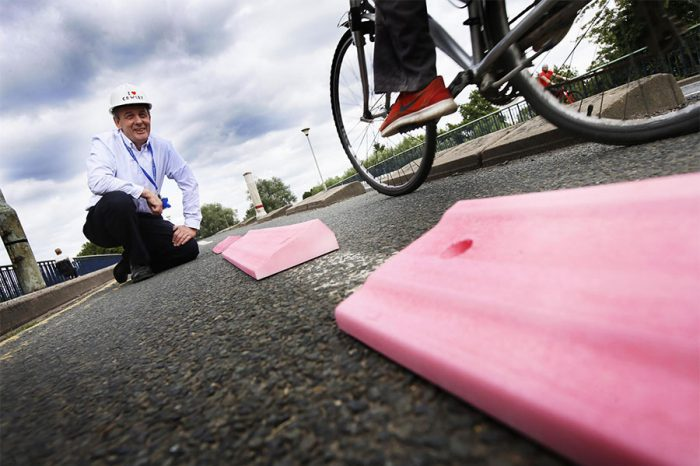 Councillor wants city-wide 'armadillos' in bid to encourage safe cycling