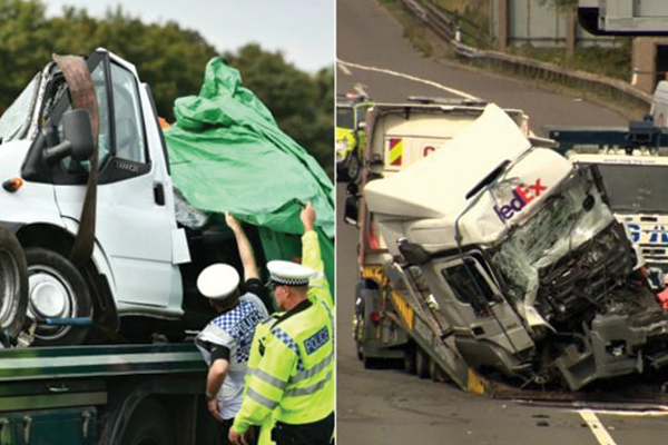 Lorry drivers charged over M1 fatal crash