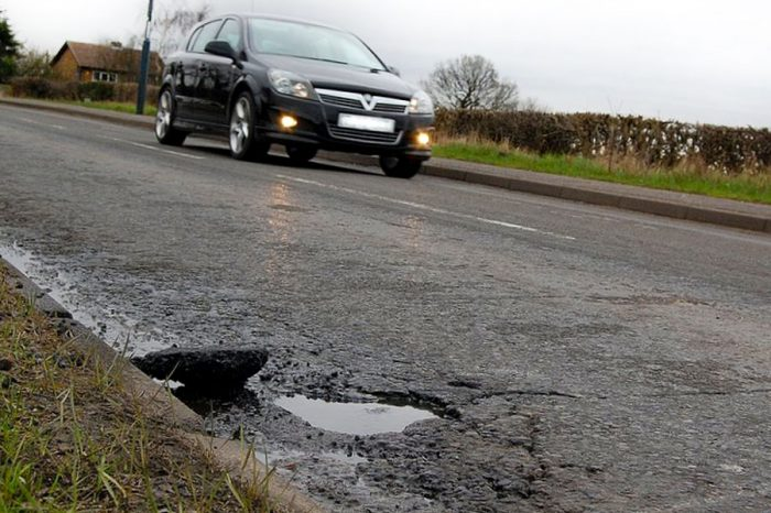 Where are the least potholed roads in the country?
