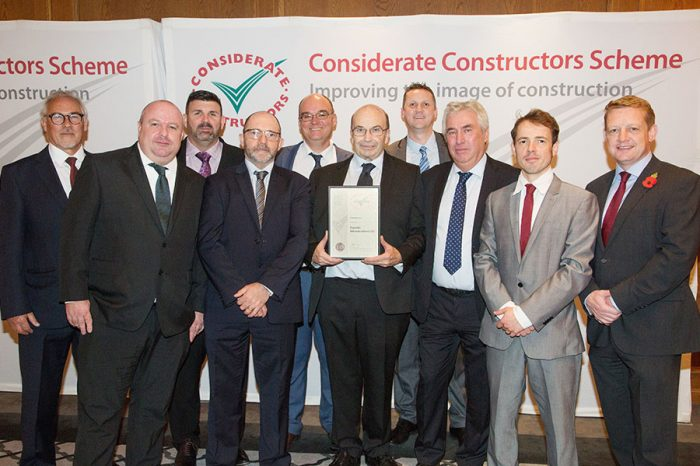 Eurovia Surfacing | Considerate Constructors win for Eurovia Infrastructure Ltd