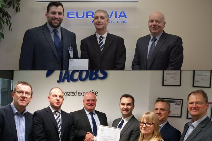 Eurovia UK & Ringway Jacobs | One of the first businesses to achieve conformity to new safety standard ISO 45001