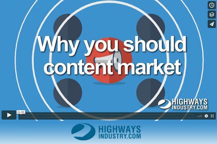 HighwaysIndustry.Com   Why content market
