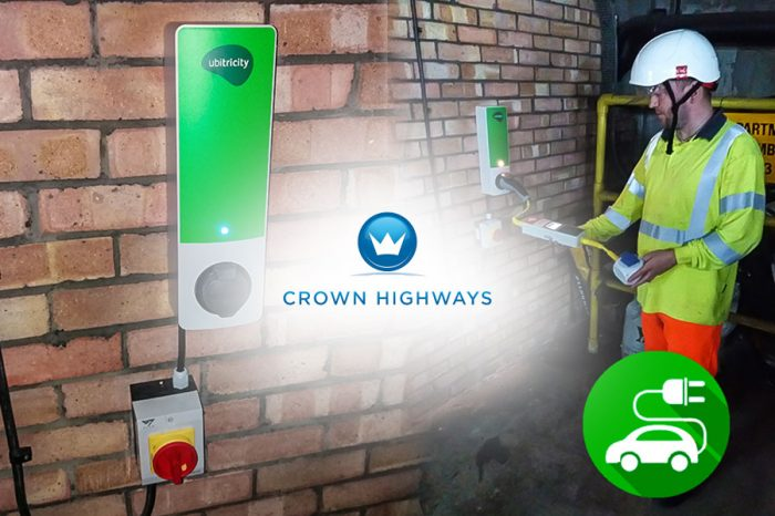 Crown Highways | Installing first wall mounted EV chargers