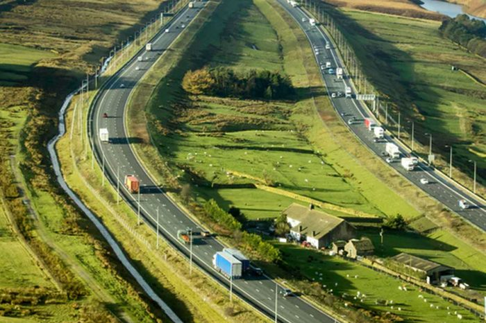 Two men die after car drives wrong way down M62 near Bradford