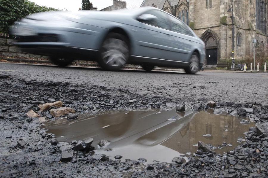 British potholed roads