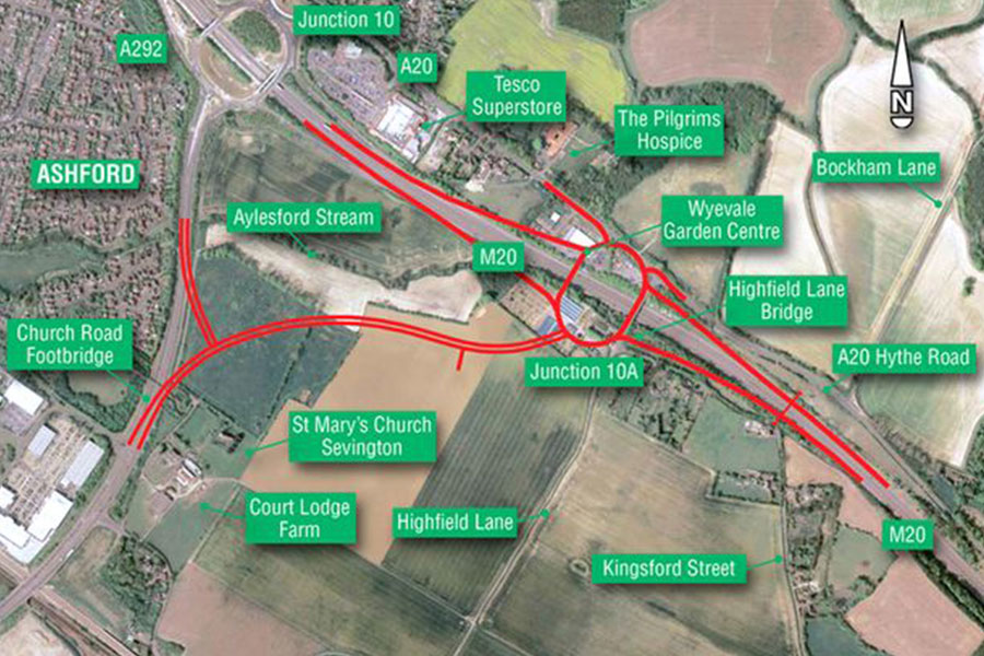 Junction 10a off the M20 will provide a new route into Ashford